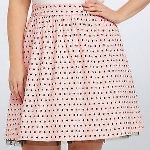 Torrid Little Mermaid polka dot shell skirt 28